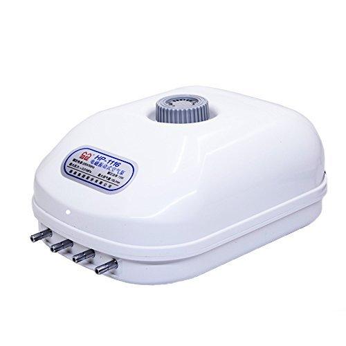 Gift Prod 15W 10L/Min Energy Saving Air Pump 300 Gallon Adjustable Silent Oxygen Pump Large Aquarium Fish Tank 4 outlet (Style (300 Aquarium Air Pump)