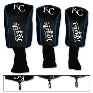 Kansas City Royals Embroidered Long Neck Barrel Golf Headcover 3 Pack Set NFL