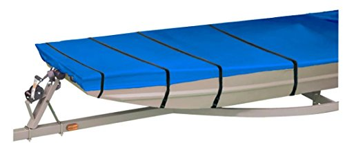 Jon Boat Cover - iCOVER Water Proof Heavy Duty Trailerable Jon Boat Cover,Fits Jon Boat 16ft Long and Beam Width up to 75in, Blue Color, JB6202C