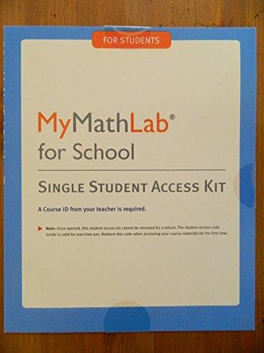 MyMathLab Access Card for School (1-year Access), 1/e