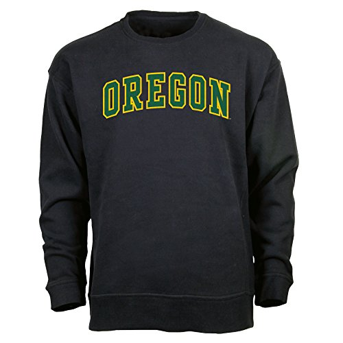 Oregon Crew Sweatshirt - Ouray Sportswear NCAA Oregon Ducks Men's Legacy DLX Crew Sweatshirt, Black, X-Large