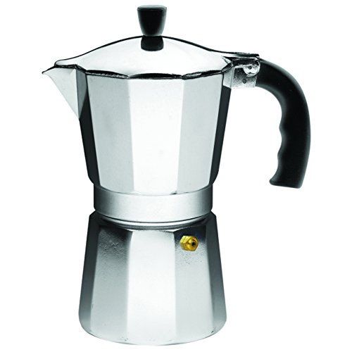 IMUSA USA B120-43V Aluminum Espresso Stovetop Coffeemaker 6-cup, - Cafe Coffee Pot