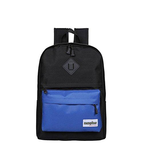 Bolsas de la escuela/Color costura mochila de gran capacidad/Mochila casual salvaje-B C