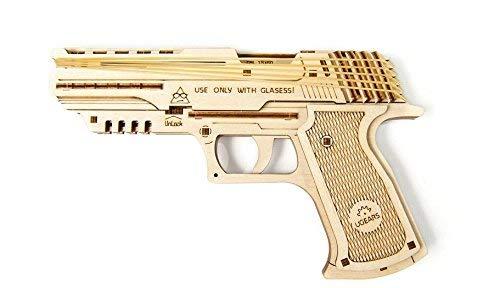 UGEARS Mechanical Wooden 3D Model Wolf-01 Handgun Construction Set (Gun Model)