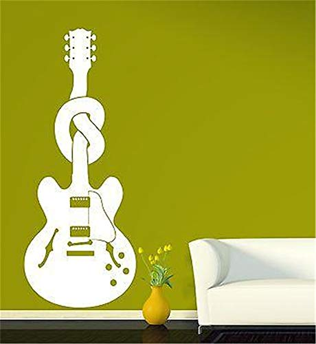 Funny-mural Wall Decal Wall Written Vinyl Wall Decals Quotes Sayings Words Art Deco Lettering Guitar Music Node Bass Strings Composer ()