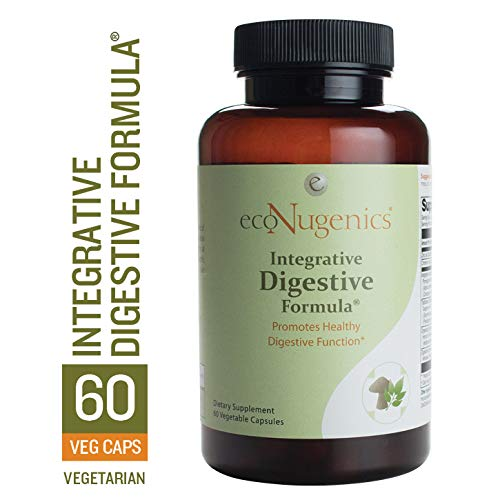 ecoNugenics - Integrative Digestive Formula - 60 Capsules | Professionally Formulated to Promote Healthy Digestive Function | Helps Alleviate Heartburn, Indigestions, Gas, Nausea & Bloating