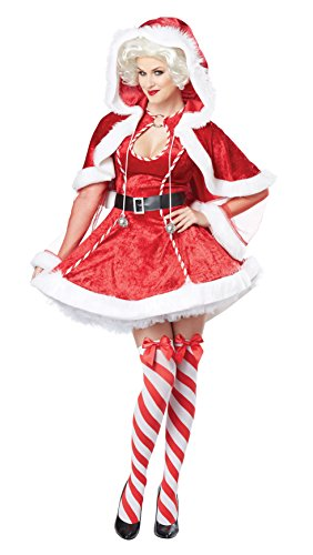 Santas Sexy Envy Womens Adult Costumes (California Costumes Women's Sexy Mrs. Claus Adult, Red/White, Large)