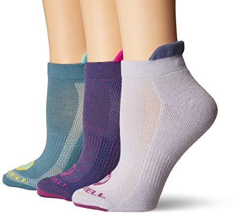 Merrell Women's 3 Pack Performance Hiker Socks , Aqual Marl (Low Cut Tab), Shoe Size: 4-9.5