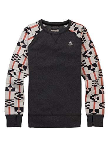 (Burton Women's Oak Crew Sweatshirt, Phantom Heather/Burnt Sienna Brick Stripe, X-Large)