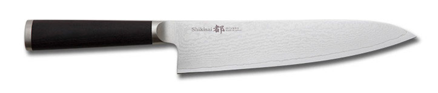 Miyako Japanese 33 Layers Damascus Steel Chef´s Knife, 8.3-In / 21-Cm With Wooden Handle: Chefs' Best And Favourite Knife by Miyako