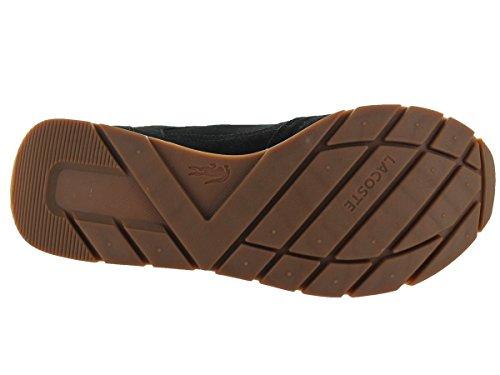 Lacoste Hombres Cawston Se Lem Negro / Dk Ylw Casual Shoe 10 Hombres Us