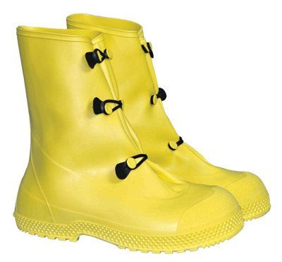 Radnor 64055799 12 PVC 3 Button Over Boots, Self-Cleaning, Tread Outsole, X-Large, Yellow by Radnor