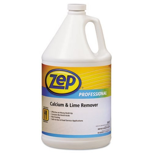 Zep Professional Calcium & Lime Remover, Neutral, 1gal Bottle - Includes four bottles.