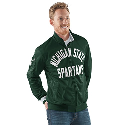 (G-III Sports NCAA Michigan State Spartans Men's Contender Full Zip Track Jacket, X-Large, Green )