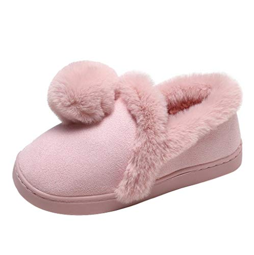 Women Warm Indoor Slippers Women Fleece Plush Bedroom House Shoes Non Slip Winter Boots, Fire And Safety Shoes | Thursday Company Liners Arctic Socks Indoor Long Outdoor (Pink 41)