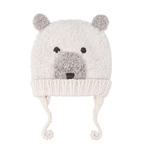 SUMOLUX Baby Toddler Warm Earflap Beanies Hat Knitted Polar bear Animal Ears Hats Lined Beanie Fluffy Crochet Handmade Cap for Winter