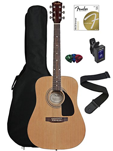 Fender FA-100 Dreadnought Acoustic Guitar Bundle with Gig Ba