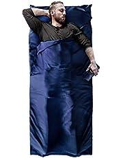 BeMaxx Hüttenschlafsack Microfaser Sommerschlafsack Outdoor + Kissen-Fach – Mikrofaser Reiseschlafsack | Dünn, leicht, klein, kompakt für Reisen | Schlafsack Inlay Inlett für Damen, Herren, Kinder