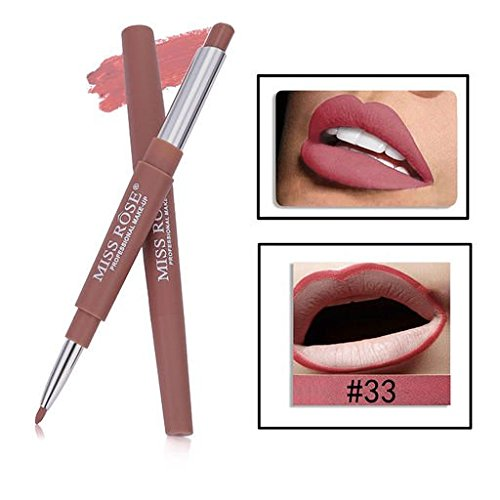 Expxon Double-end Lasting Lipliner, Beauty Bright Waterproof Long Lasting Hydrating Lip Liner Stick Pencil 14 Colors
