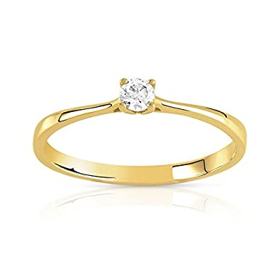 bague solitaire taille 62
