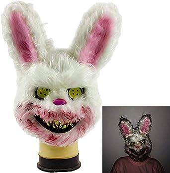 Amazon.com: Máscara de conejo sangrado, malvado asesino de ...