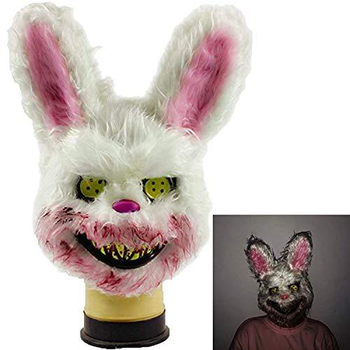 Halloween Serial Killer Mask (Bleeding Bunny mask, Evil Killer Scary Masks Halloween Creepy Bunny mask, The Killer Bunny mask Also Called Spooky mask Halloween Costume)