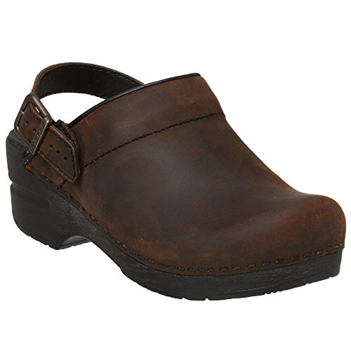 - Dansko Ingrid Women Mules & Clogs Shoes, Antique�Brown�Oiled, Size - 39