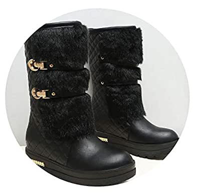 Amazon.com | Spinning Women Winter Boots Fashion Hidden