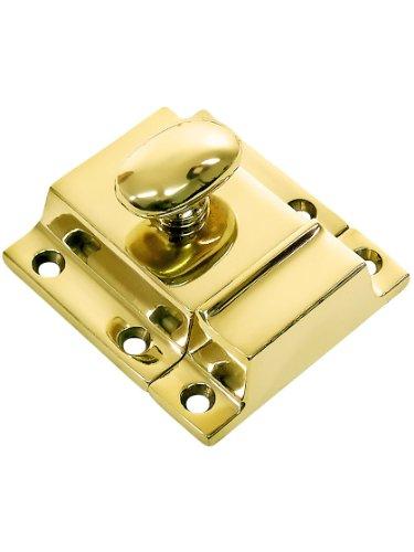 - Large Cast Brass Cupboard Latch in Polished Brass Latch