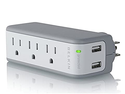 Belkin Mini Surge Protector with USB Charger - 1 AMP (Retail Package) (Iphone 4 Belkin Essential)