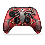 Dreamcontroller Xbox One Non-Modded Controller - Customized Design with Anti-Slip Soft Grip - Great for Gaming Competitions and Tournaments - Bluetooth for Windows 10 (Spiderman Red) C