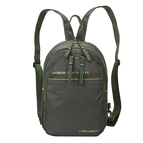 Genda 2Archer Unisex Convertible Backpack Purse Nylon Cross Body Sling Bag (Army Green)