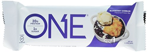 ONE Protein Bar, Blueberry Cobbler, 20g Protein, 1g Sugar, 12-Pack