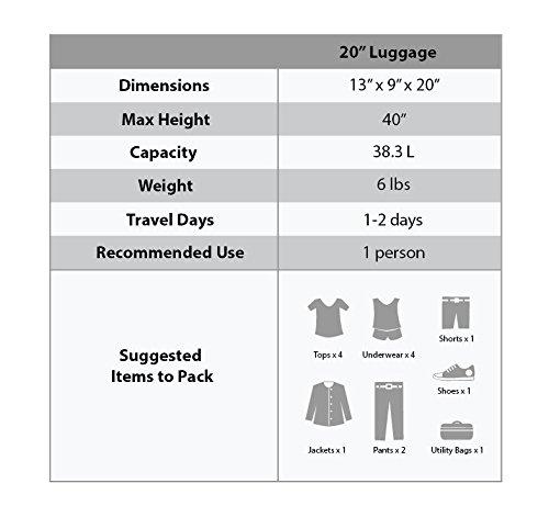 Rockland Luggage 20 Inch Carry On, Black Dot, Medium