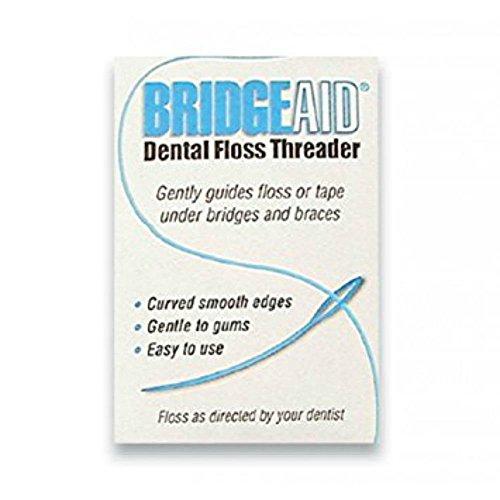 FLOSSAID BridgeAid Threaders 10 Packs of 10 (100 Threaders) (Best Floss For Braces)