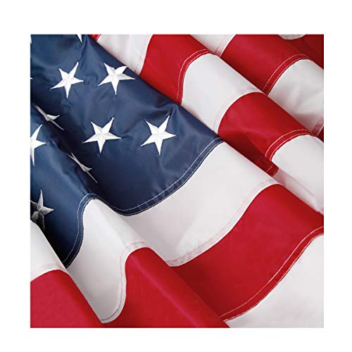 Bright-Life American Flag - 4x6 Ft USA Garden Flags Decor with Embroidered Stars/Sewn Stripes/Brass Grommets, Good for American Pride - Indoor/Outdoor Use for $<!--$16.99-->