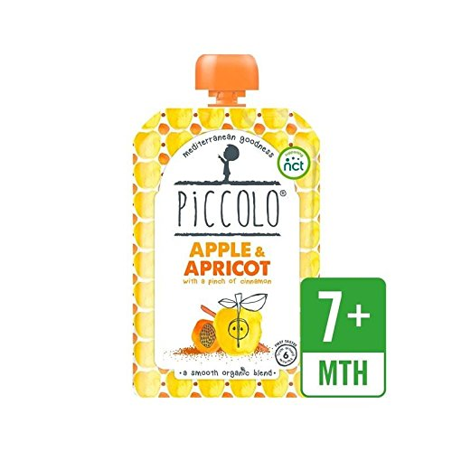 Piccolo Organic Apple & Apricot with a Hint of Cinnamon 100g - Pack of 4