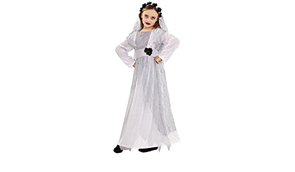 Disfraz de Novia Cadáver para niñas en varias tallas: Amazon.es ...