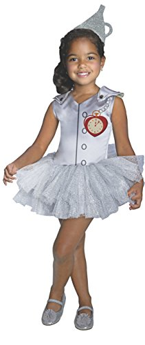 Toddler Tin Girl Costumes (Rubies Wizard of Oz 75th Anniversary Tin Man Tutu Dress Costume, Toddler Size)