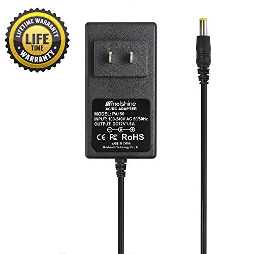 Used, Molshine (9.8ft Cable) 12V AC DC Power Adapter Charger for sale  Delivered anywhere in USA