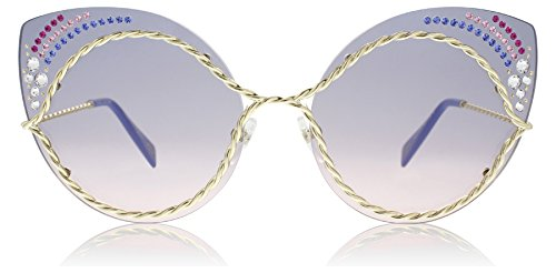 Marc Jacobs Women's Marc 161/S/STR Blue Pink With Blue Gradient Lens - Marc Heart Sunglasses Jacobs