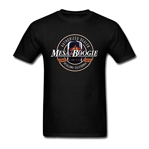 (Umokon Men's Black Mesa Boogie Logo T Shirt )