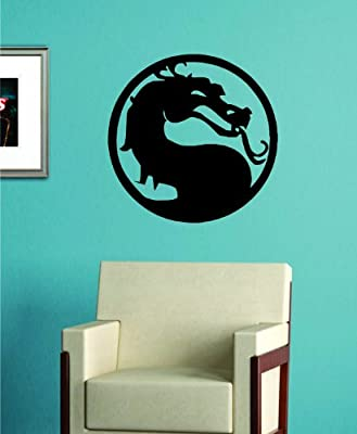 Mortal Kombat Dragon LARGE Decal Sticker Wall Vinyl Art