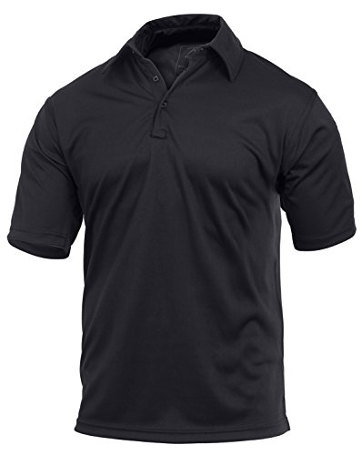 (Rothco Tactical Performance Polo Shirt, Black, Medium)