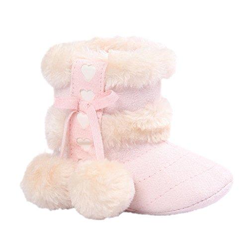 Schuhe Aufladungen 0 Schuhe Aufladungen erste warme 6 weiche Rosa Für M Schuhe weiche Auxma gehende Baby Baby Sole 18 Kleinkind Schnee Winter Krippe Beige 0 Monate RUqnPF1xwZ