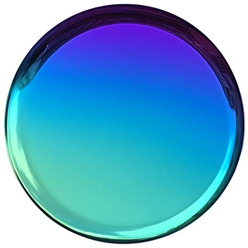FREELOVE Stainless Steel Rainbow Round Serving Tray, Dinner Serving Tray Cosmetics Jewelry Organizer Towel Tray Tea Tea Tray Decorative Plates (11 inches Round Rainbow)