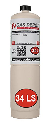 Calibration gas-Carbon Monoxide 50 ppm-Air RAE Equivalent 600-0052-000-34 Liter