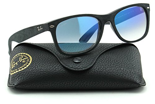 55 Sunglasses Gradient Black RB2132 Lens Gradient Ban 62423F Wayfarer Ray New Unisex Blue Frame YOxfw