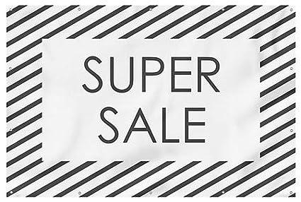 12x8 Stripes White Wind-Resistant Outdoor Mesh Vinyl Banner CGSignLab Super Sale