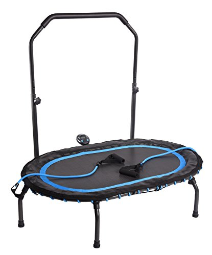 Stamina Intone Oval Fitness Trampoline w/Workout DVD (Elliptical Handle)